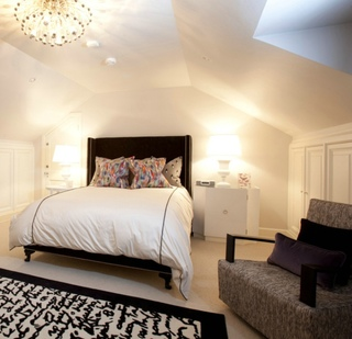 优雅美式阁楼卧室效果图