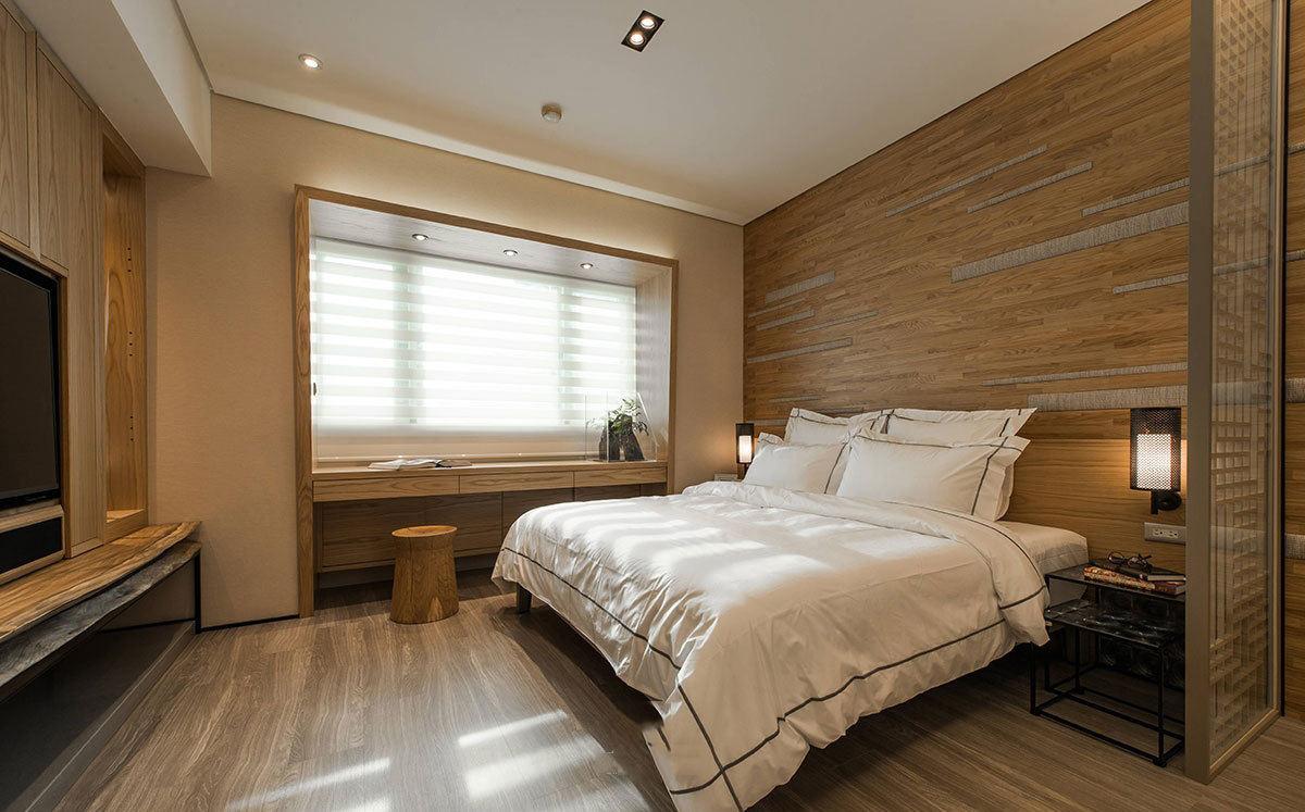 20平卧室宜家原木装饰图