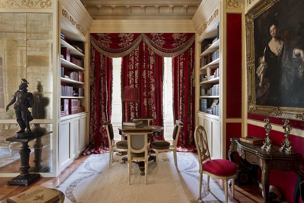 古典欧式别墅书房窗帘设计
