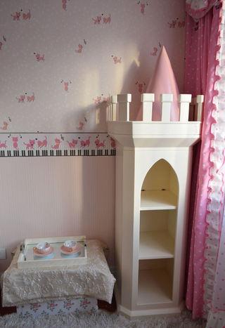 甜美欧式公主房 城堡储物柜设计