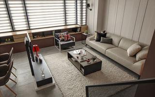 米色系现代家装客厅俯瞰图欣赏