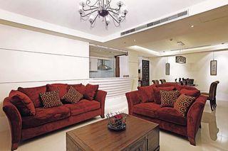 现代中式混搭客厅沙发效果图