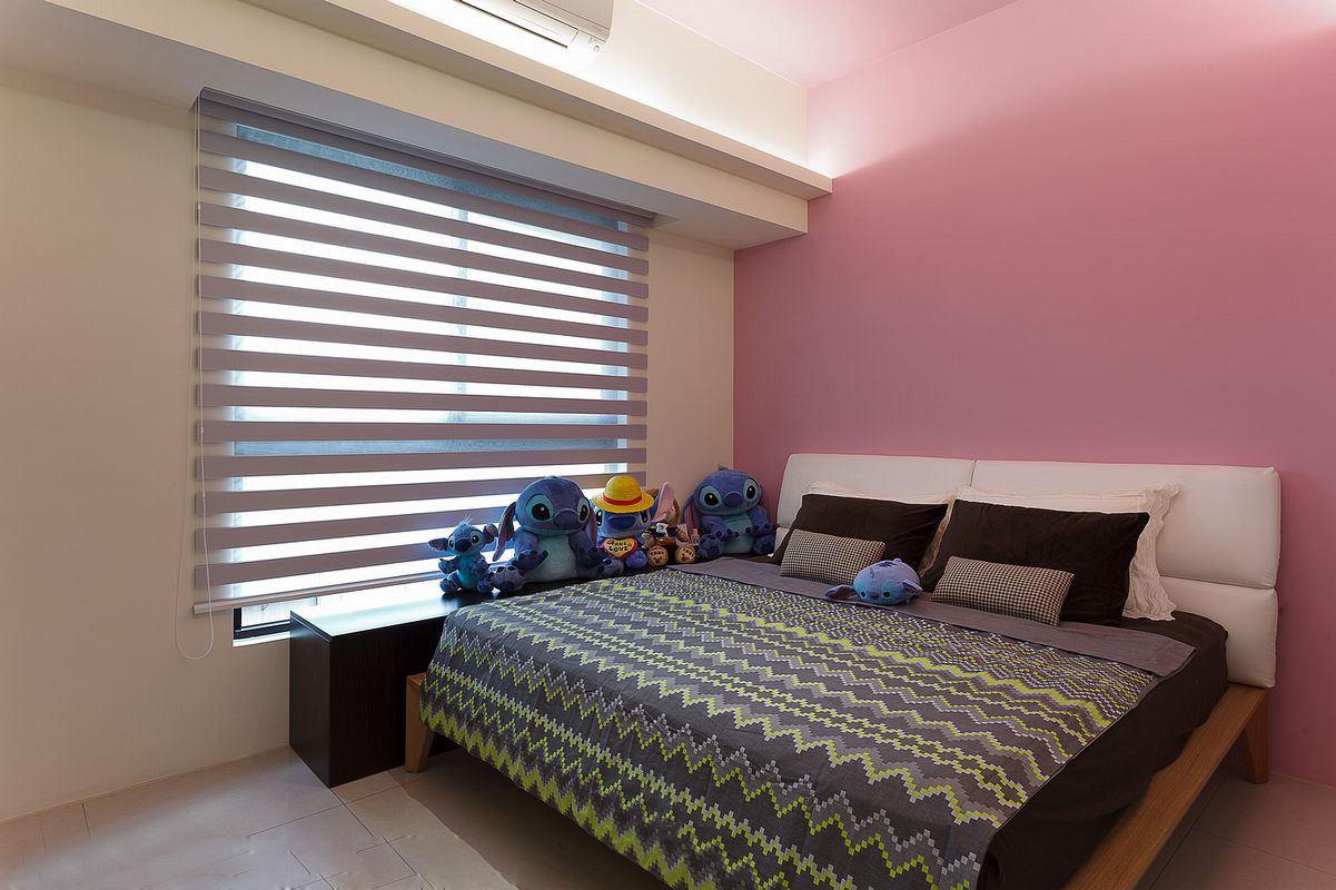 甜美日式粉色系卧室效果图