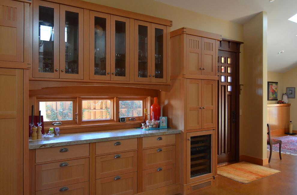 復古美式實木櫥柜窗戶效果圖