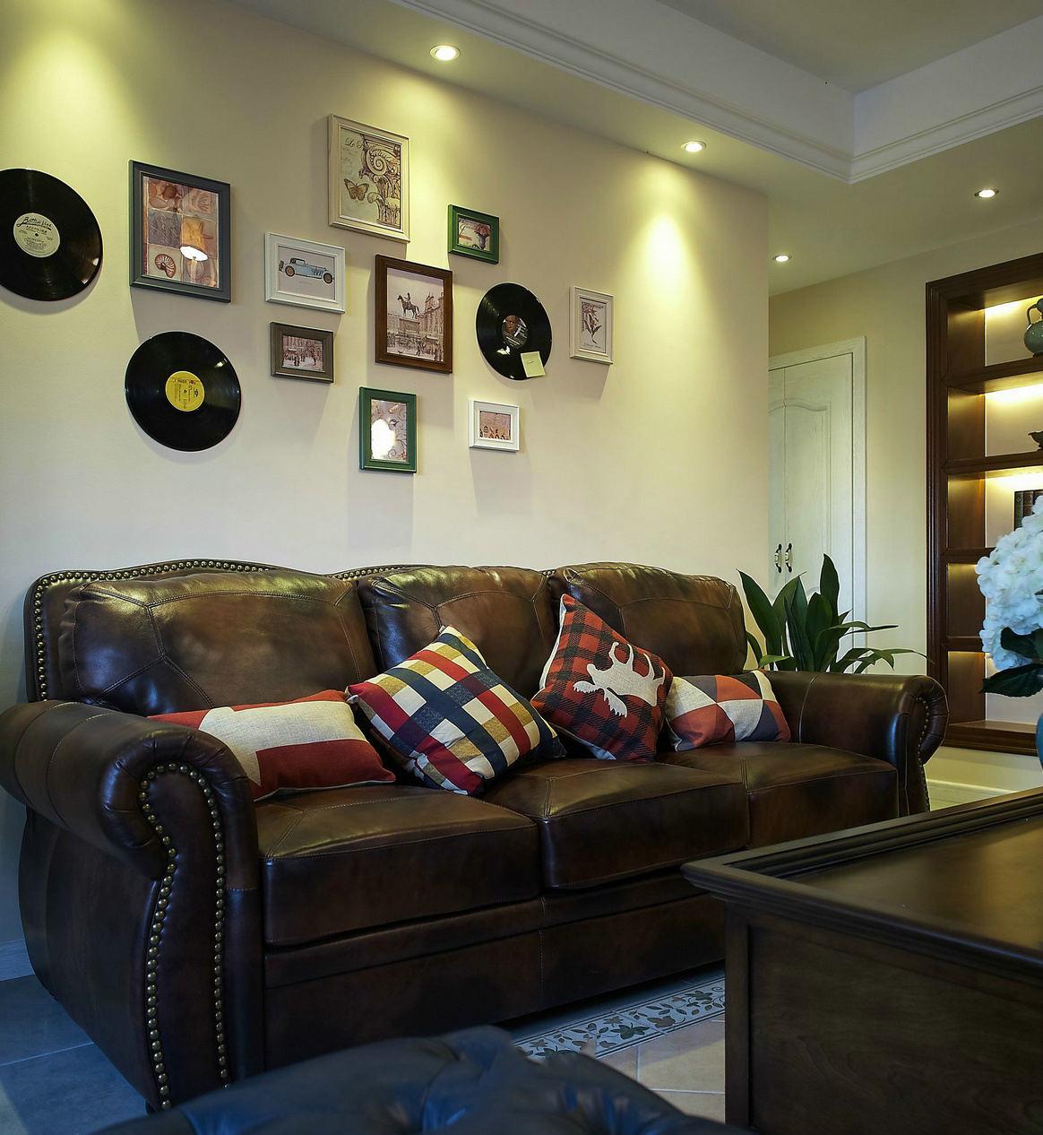 田园风格客厅相片墙欣赏