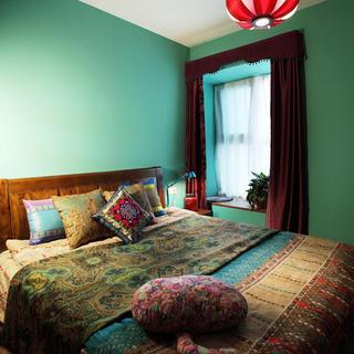 东南亚风格卧室飘窗设计