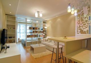 唯美简约现代 一居室内隔断设计