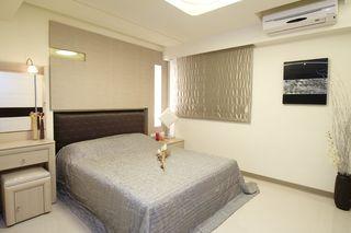 优雅简约风卧室背景墙设计图