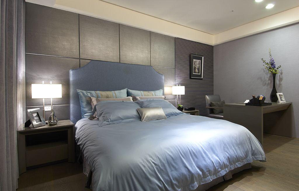 奢华后现代卧室背景墙效果图