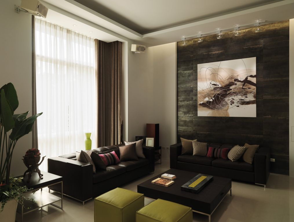 后现代混搭风客厅背景墙效果图