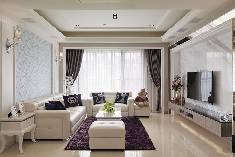 现代风格客厅吊顶案例图