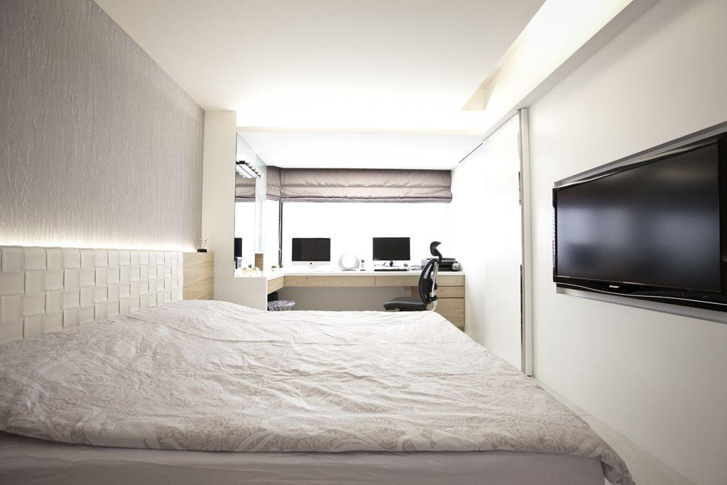 时尚简约卧室吊顶设计