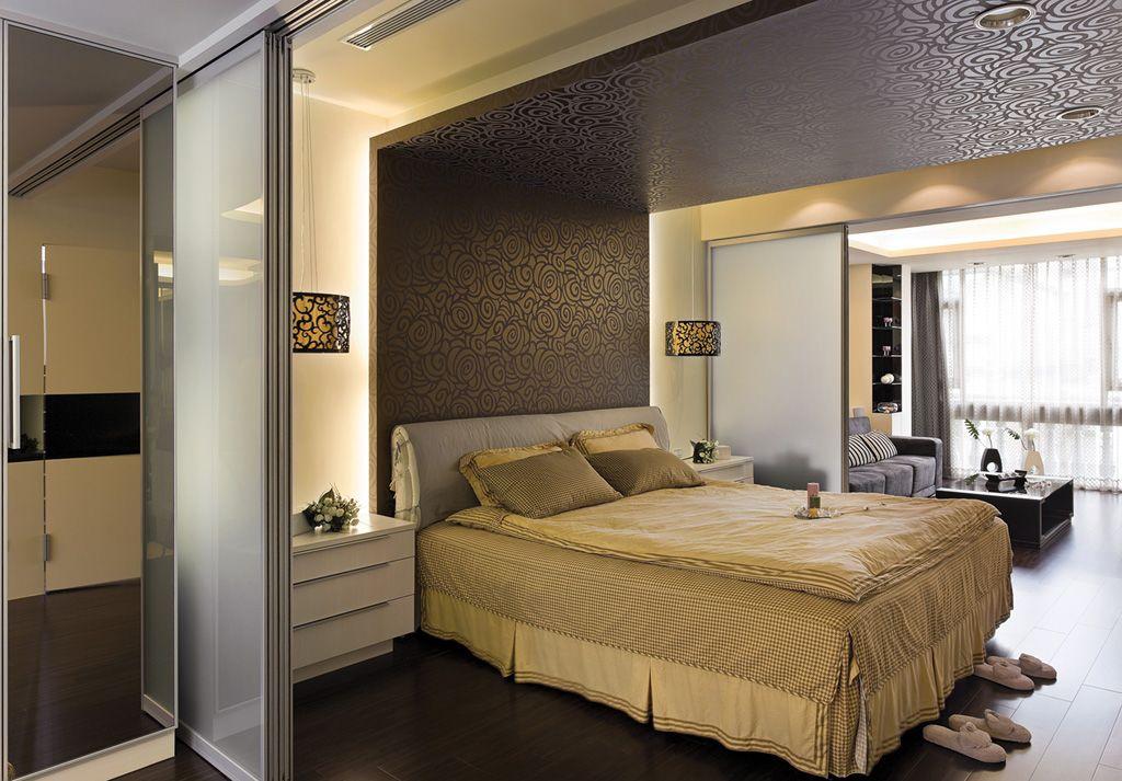 现代单身公寓卧室布置图