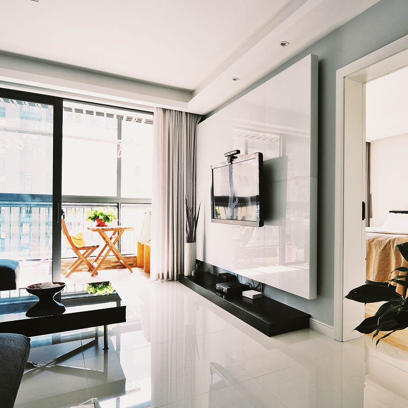 时尚现代简约客厅阳台隔断设计