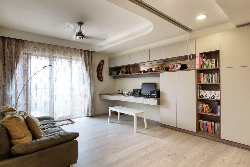 休闲现代风格书房整体柜设计