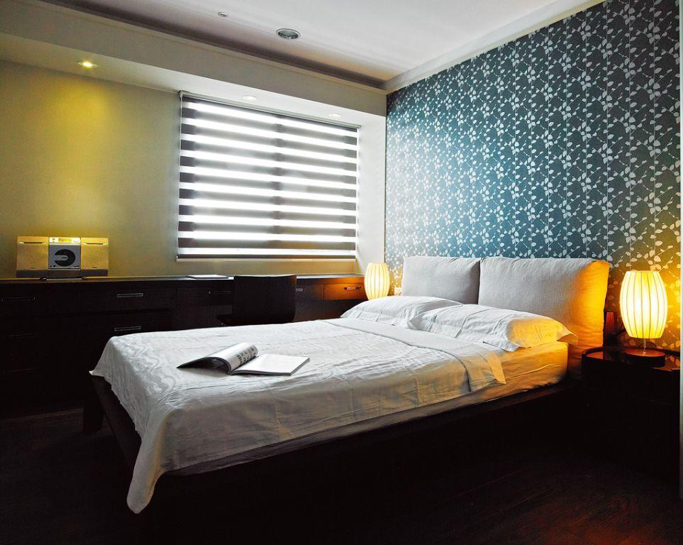 简约设计卧室壁纸装饰效果图