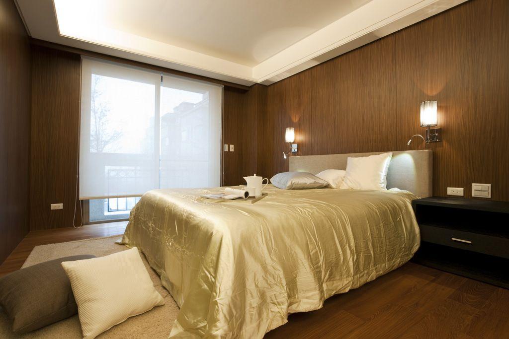 休闲复古美式 实木卧室效果图