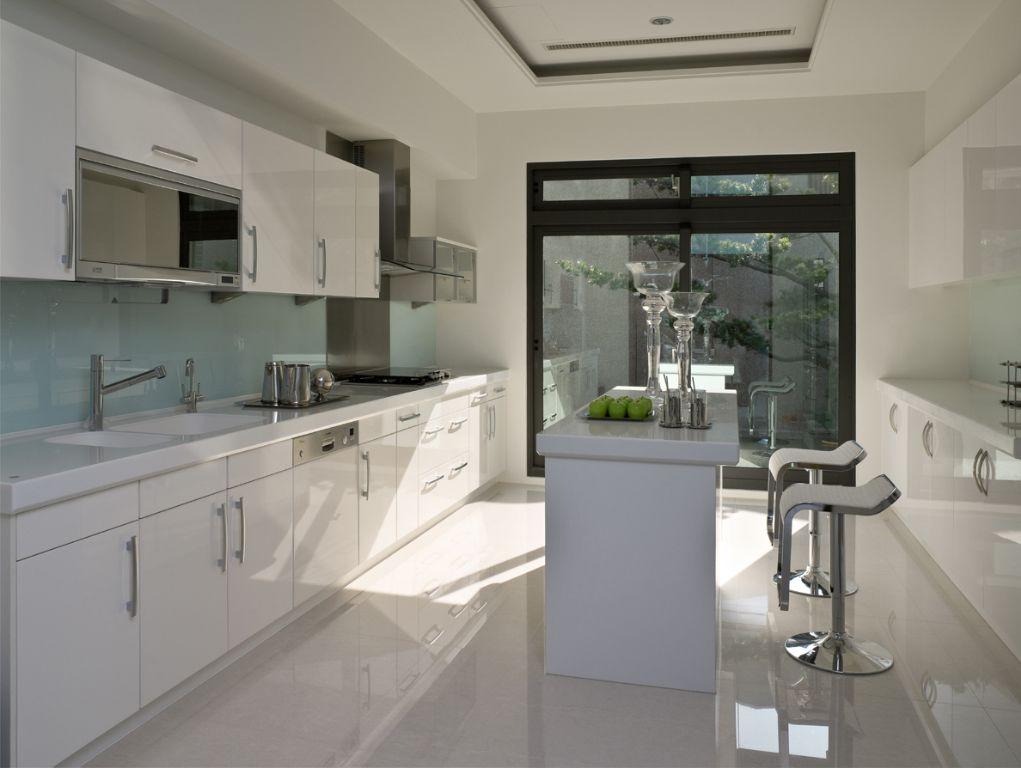 时尚现代装修厨房吧台设计