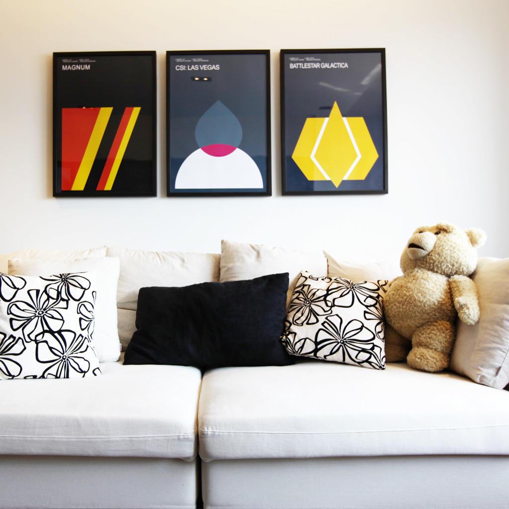 个性北欧风沙发照片墙效果图