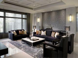 素雅现代风格客厅软装配置
