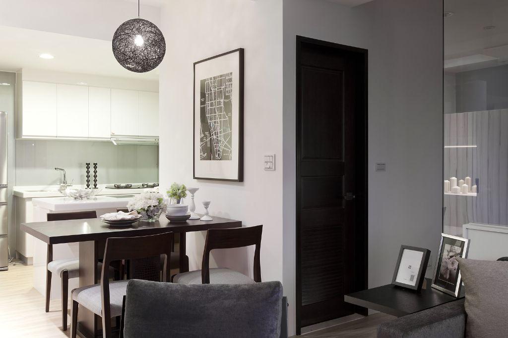现代单身公寓小餐厅布置图