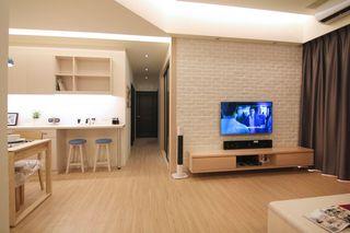 温馨暖色调 简日式公寓效果图