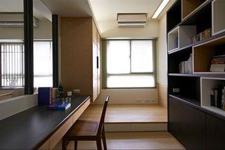 现代日式榻榻米书房效果图