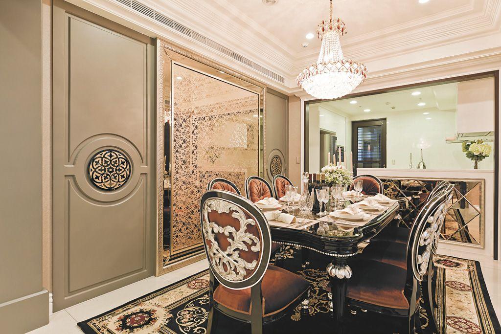 奢华欧式风格餐厅隔断装饰效果图