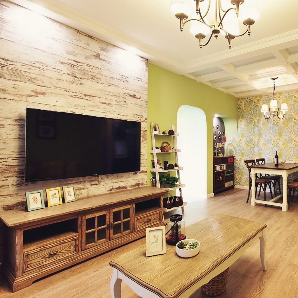 家装客厅 古朴美式电视背景墙设计