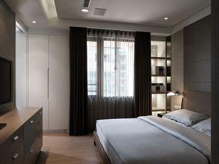深沉现代简约卧室装饰效果图