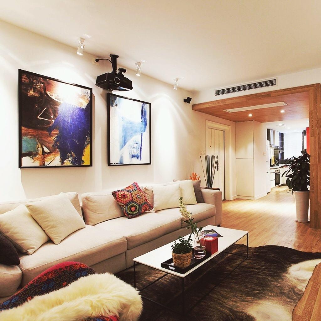艺术与时尚混搭客厅装饰画欣赏