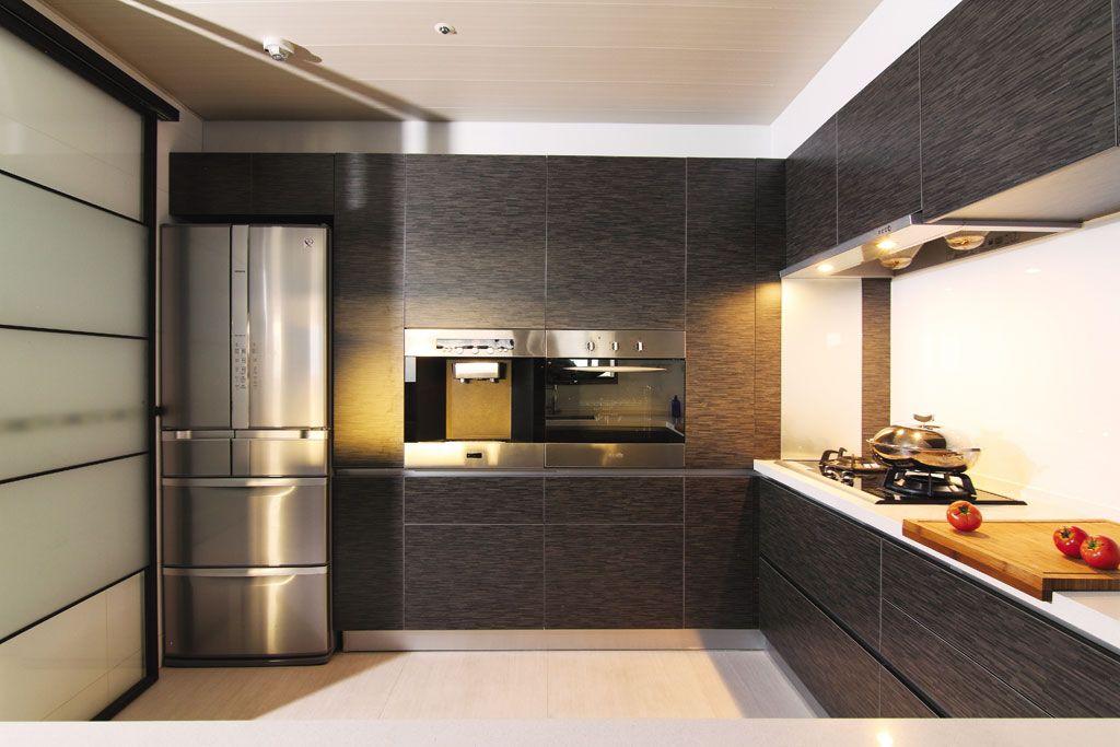 黑色系现代工业风 整体厨房橱柜设计