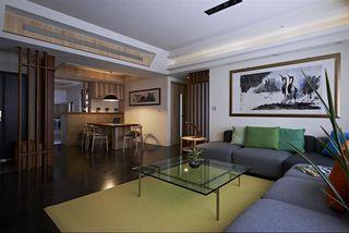 现代简中式客餐厅照片墙欣赏