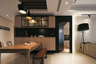 现代实木风餐厅效果图