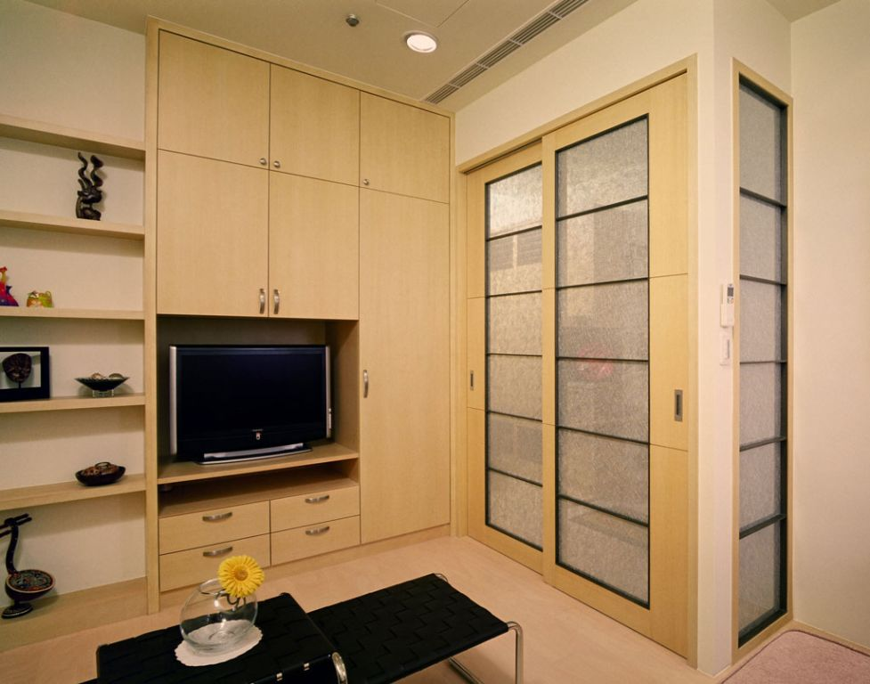 日式和风家居木质整体柜效果图