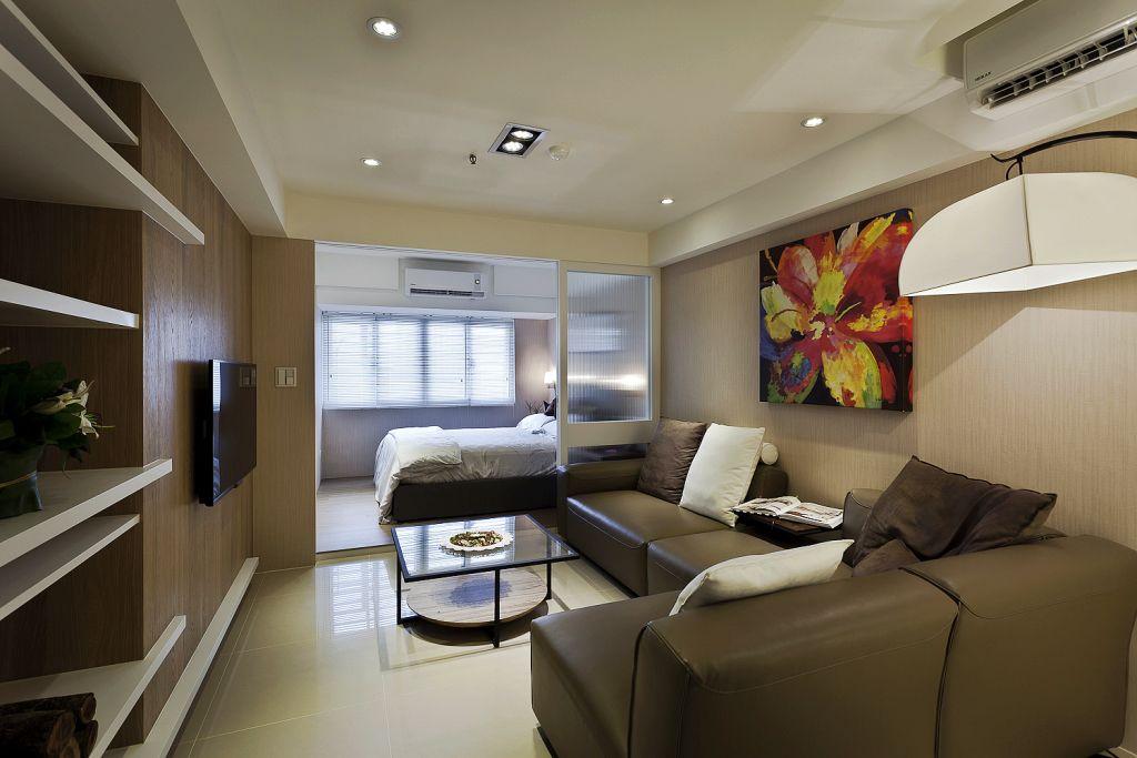 现代家装小户型客厅效果图