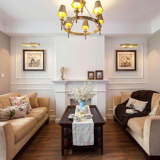 悠闲美式客厅软装设计