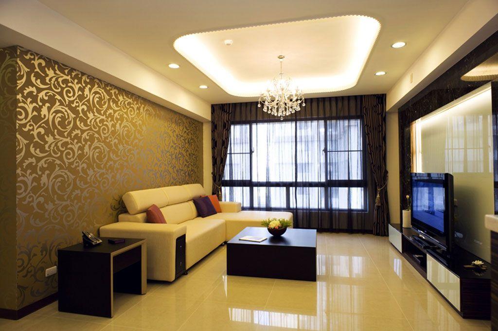 时尚沉稳现代客厅吊顶设计