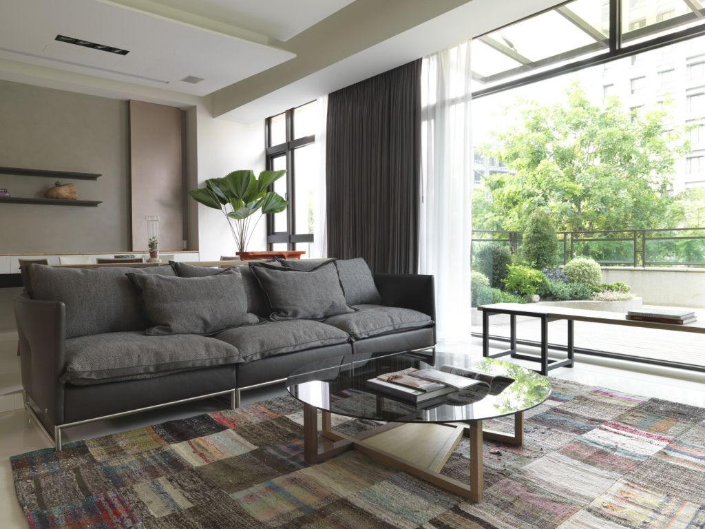 复古日式公寓客厅沙发效果图