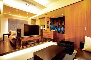 浪漫现代简中式 暖咖色公寓效果图