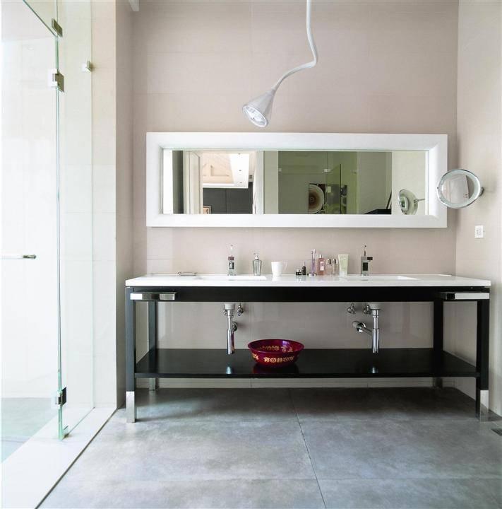 现代家庭洗手台设计效果图
