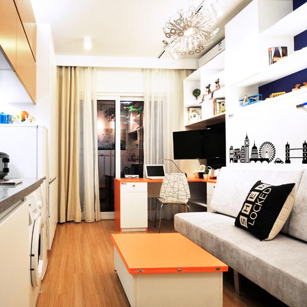 创意现代28平小户型室内图