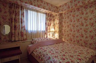 田园风卧室 碎花墙纸效果图