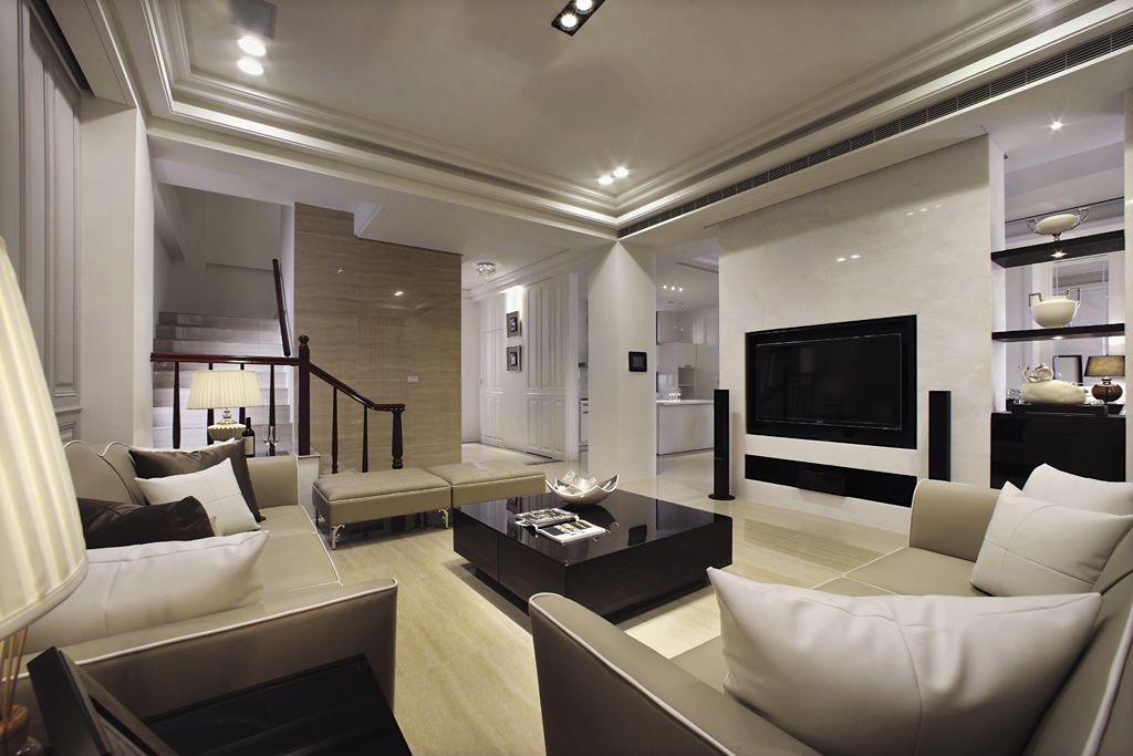 时尚现代别墅一楼格局分布