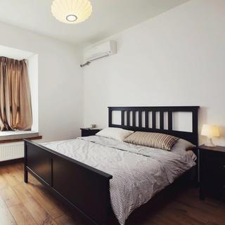 极简美式卧室 实木双人床效果图