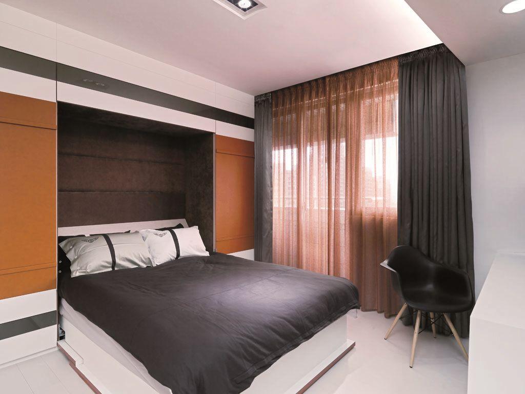 时尚简约风卧室窗帘效果图