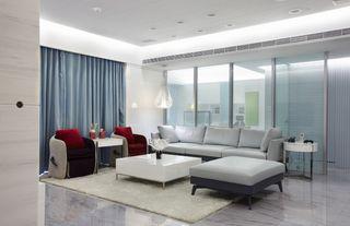 时尚简约设计 客厅玻璃背景墙效果图