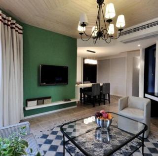 68平森系美式两室两厅装潢欣赏