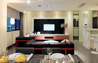 时尚简约现代风 客厅电视背景墙效果图