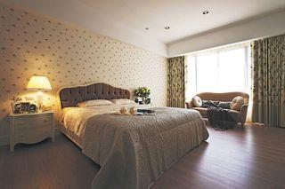 复古美式田园风卧室效果图